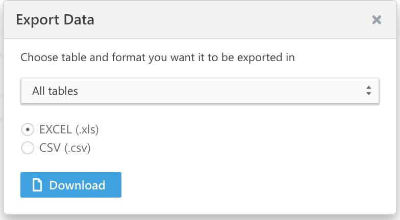export-data