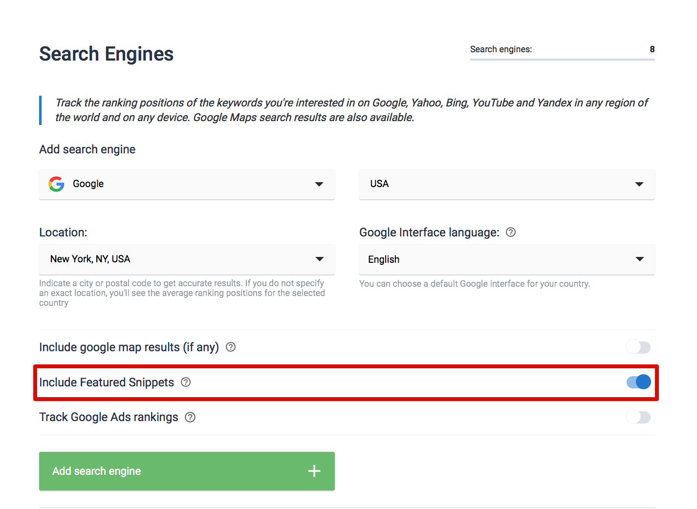 Include featured snippets
