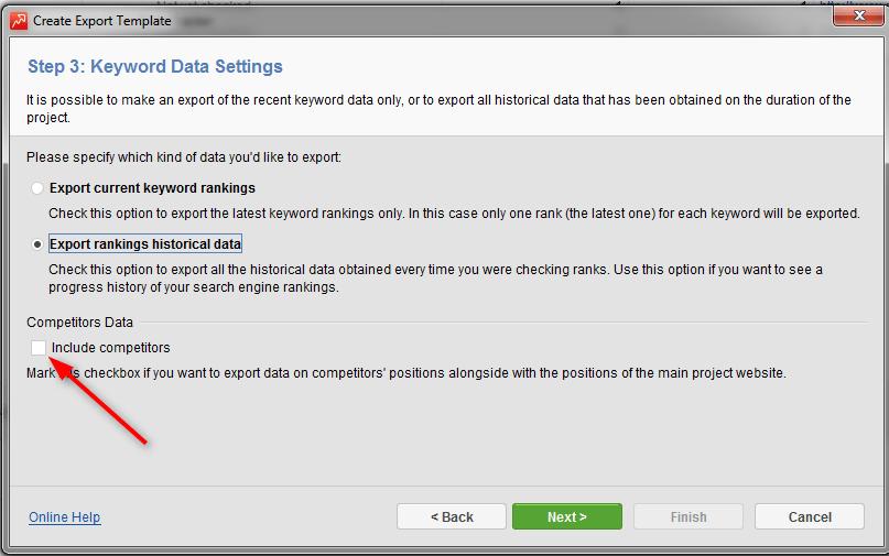 data settings